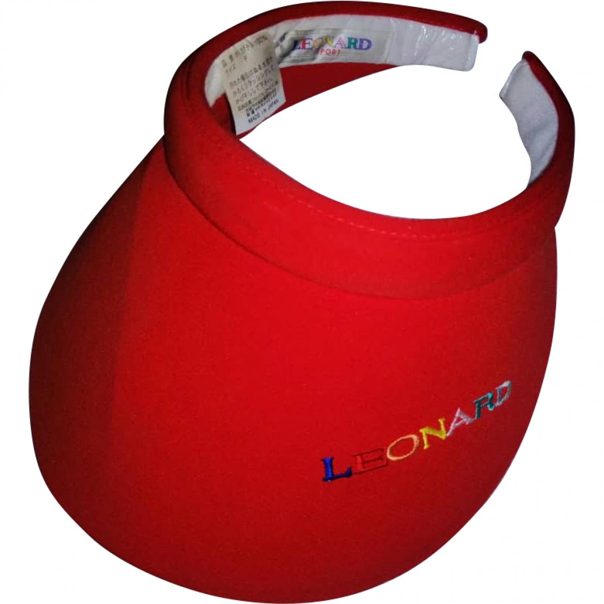 Leonard - Chapeau   pour femme en coton - rouge