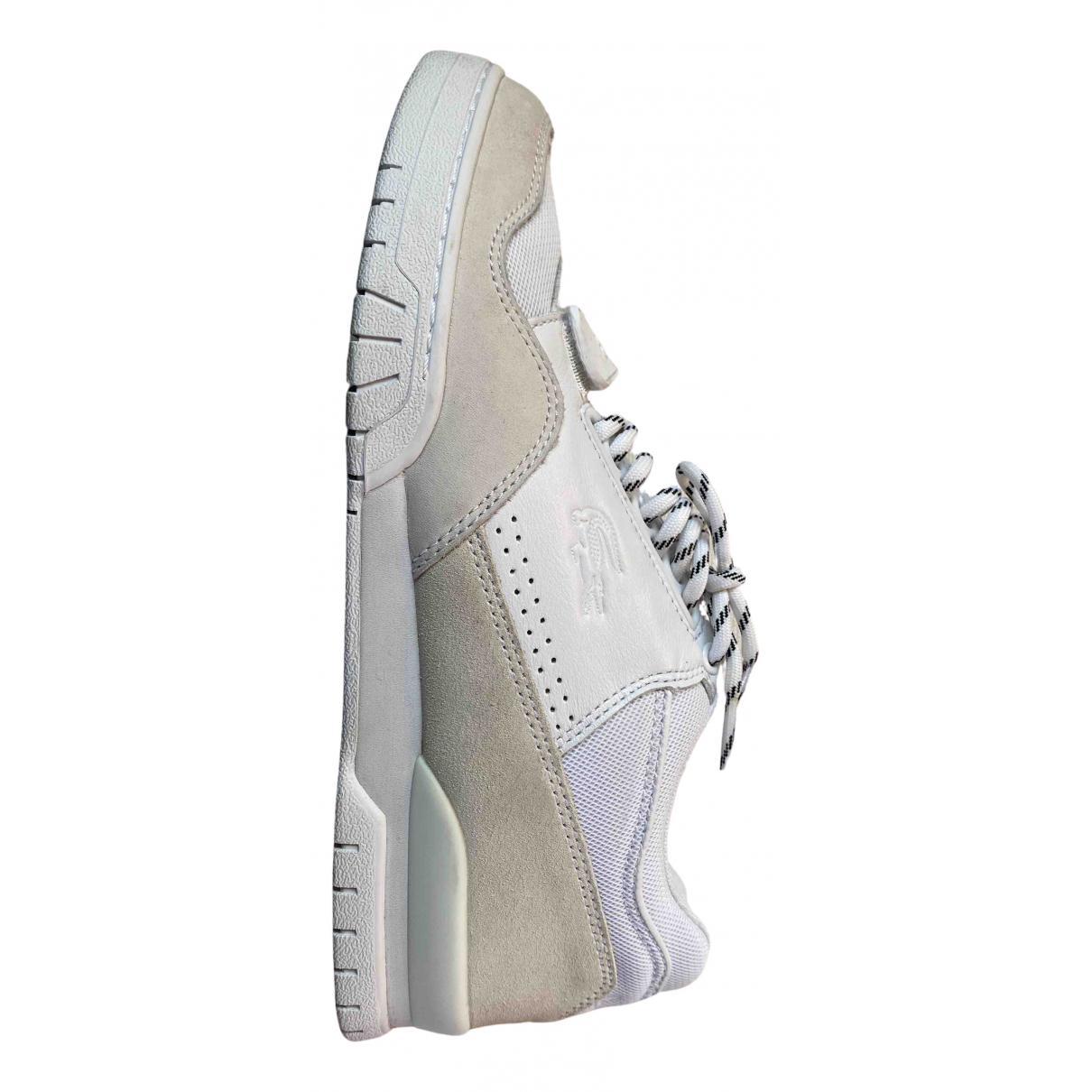 Lacoste \N Sneakers in  Weiss Veloursleder