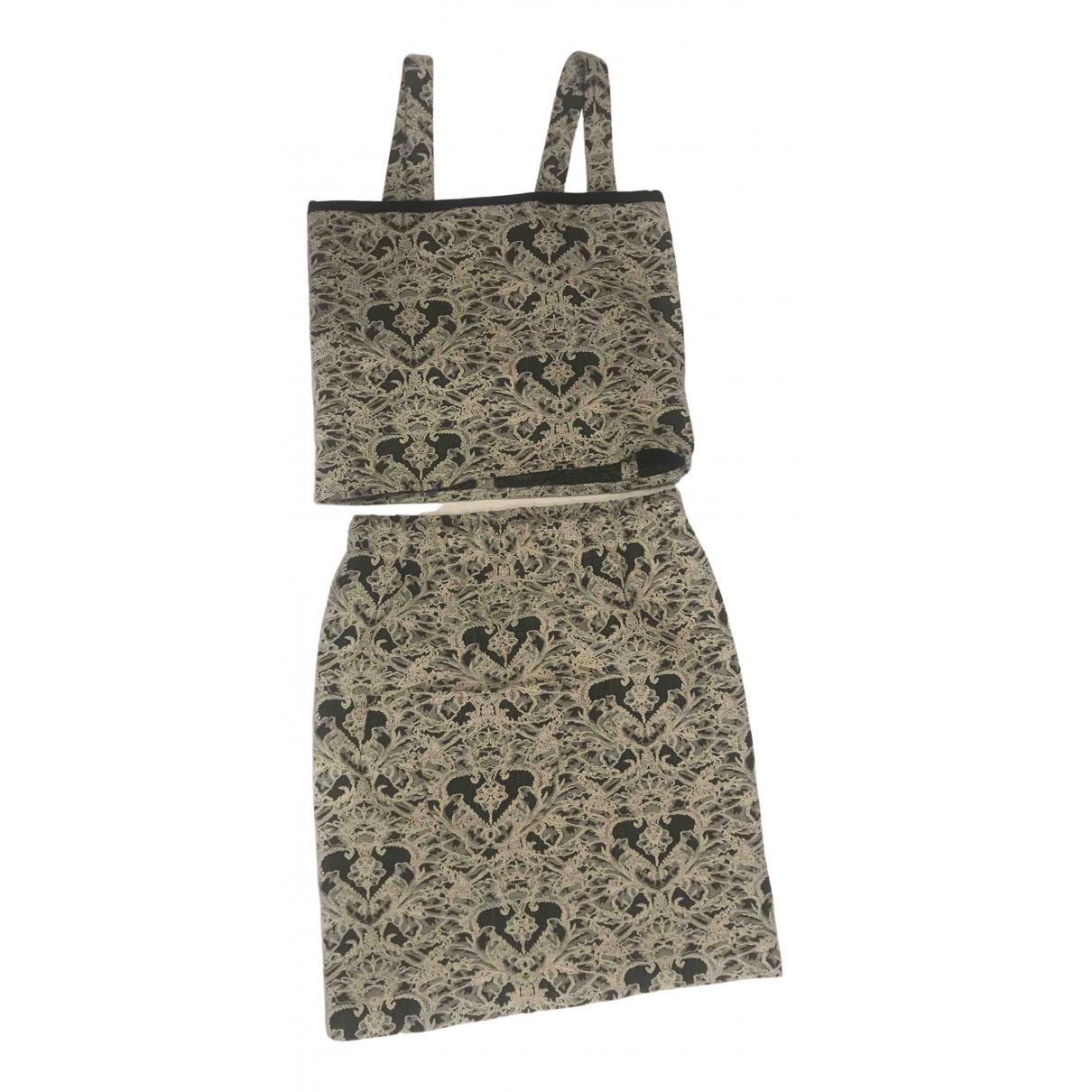 Non Signe / Unsigned \N Kleid in  Grau Baumwolle - Elasthan