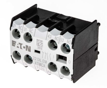 Eaton Auxiliary Contact - 2NO/2NC, 4 Contact, Front Mount, 2.5 A dc, 4 A ac
