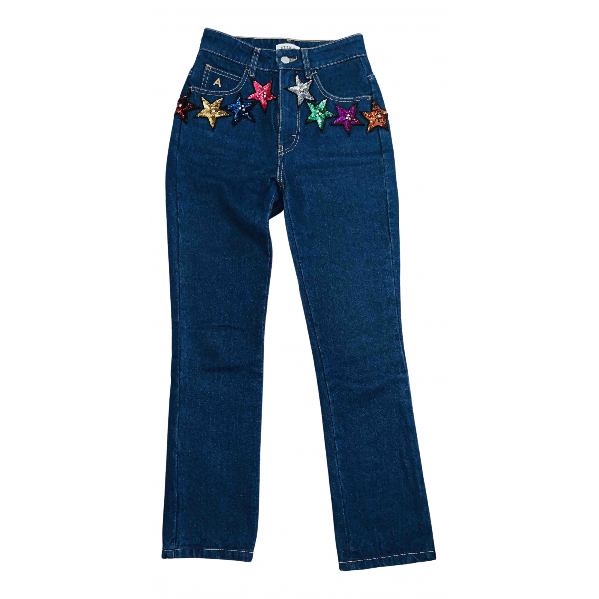 Attico \N Blue Denim - Jeans Trousers for Women 1 US