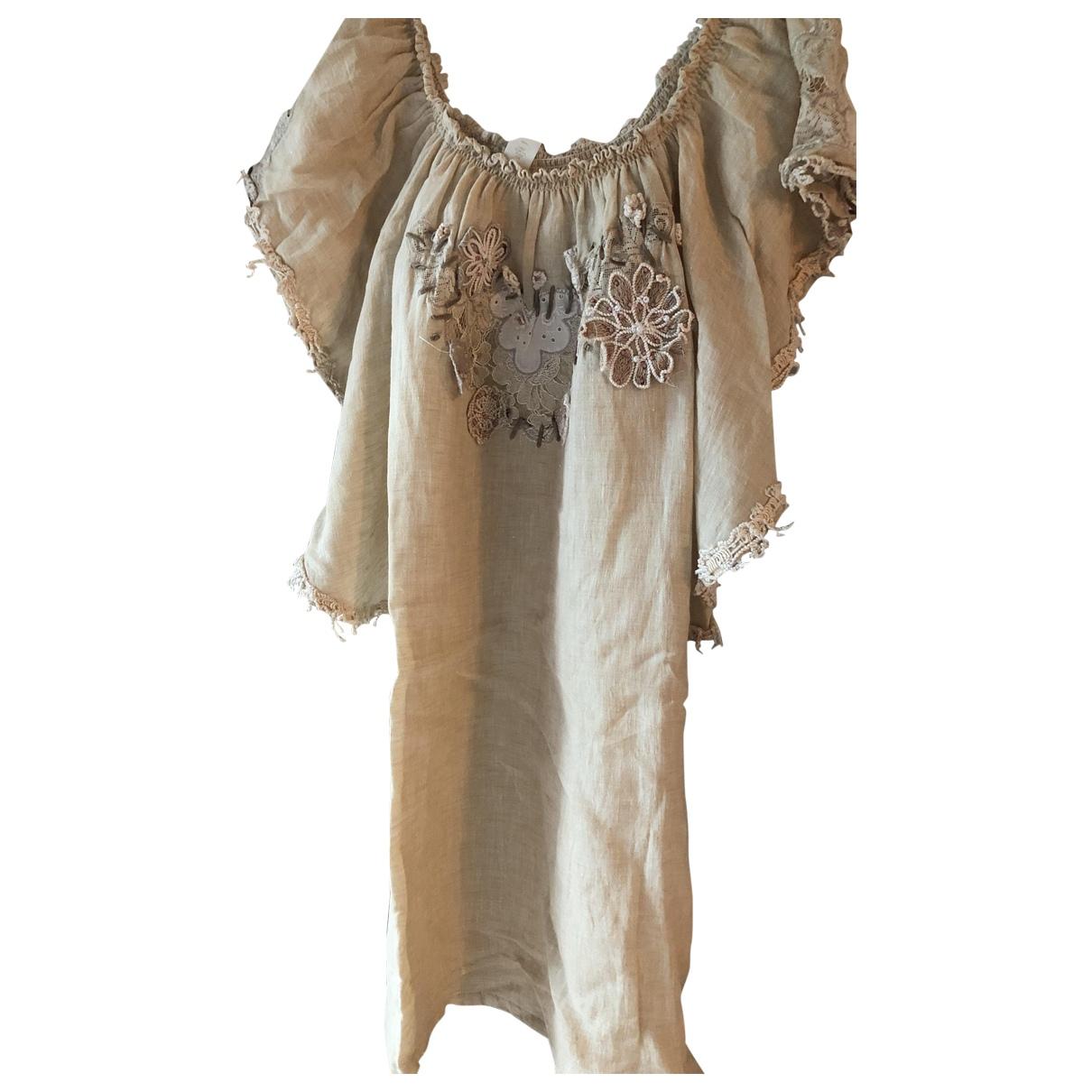 Emamo - Bain   pour femme en coton - elasthane - beige