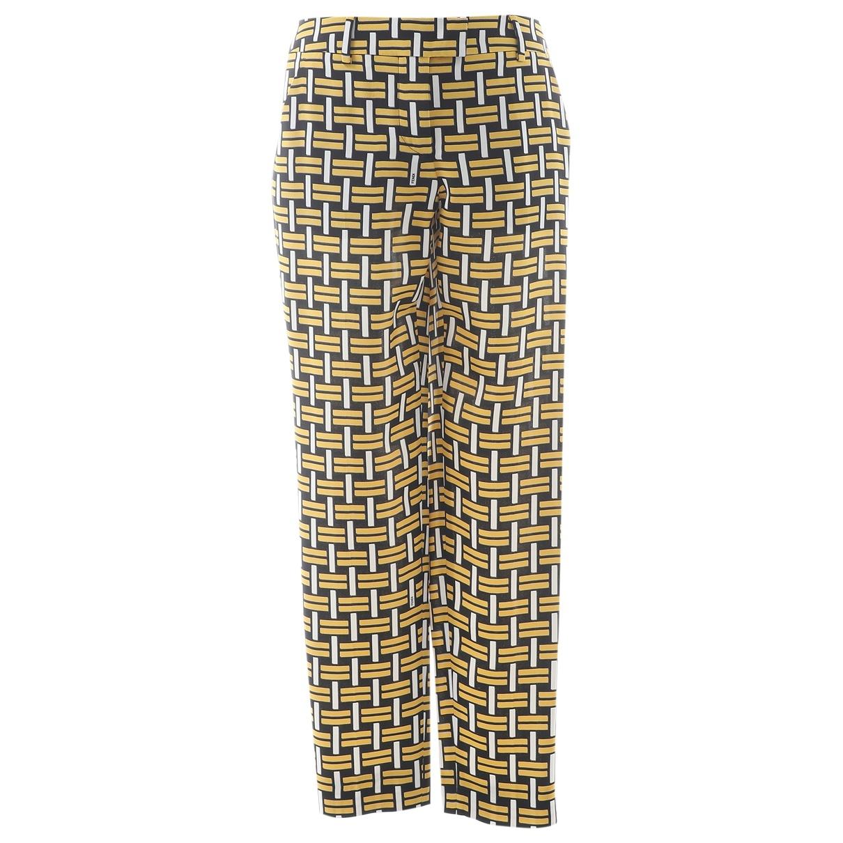 Fendi - Pantalon   pour femme en soie - jaune