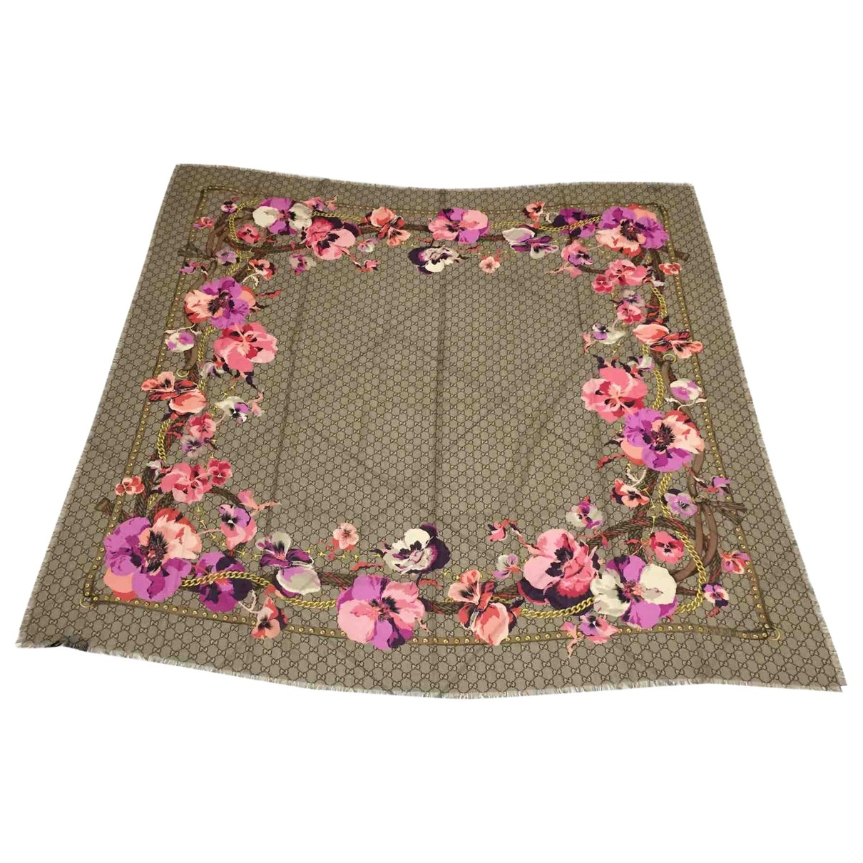 Gucci \N Multicolour Cotton scarf for Women \N
