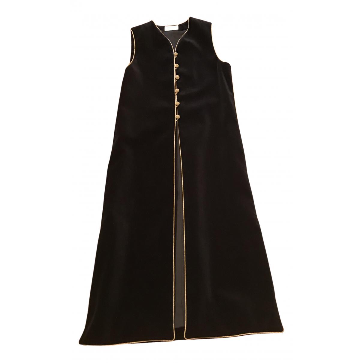 Saint Laurent - Manteau   pour femme en coton - noir