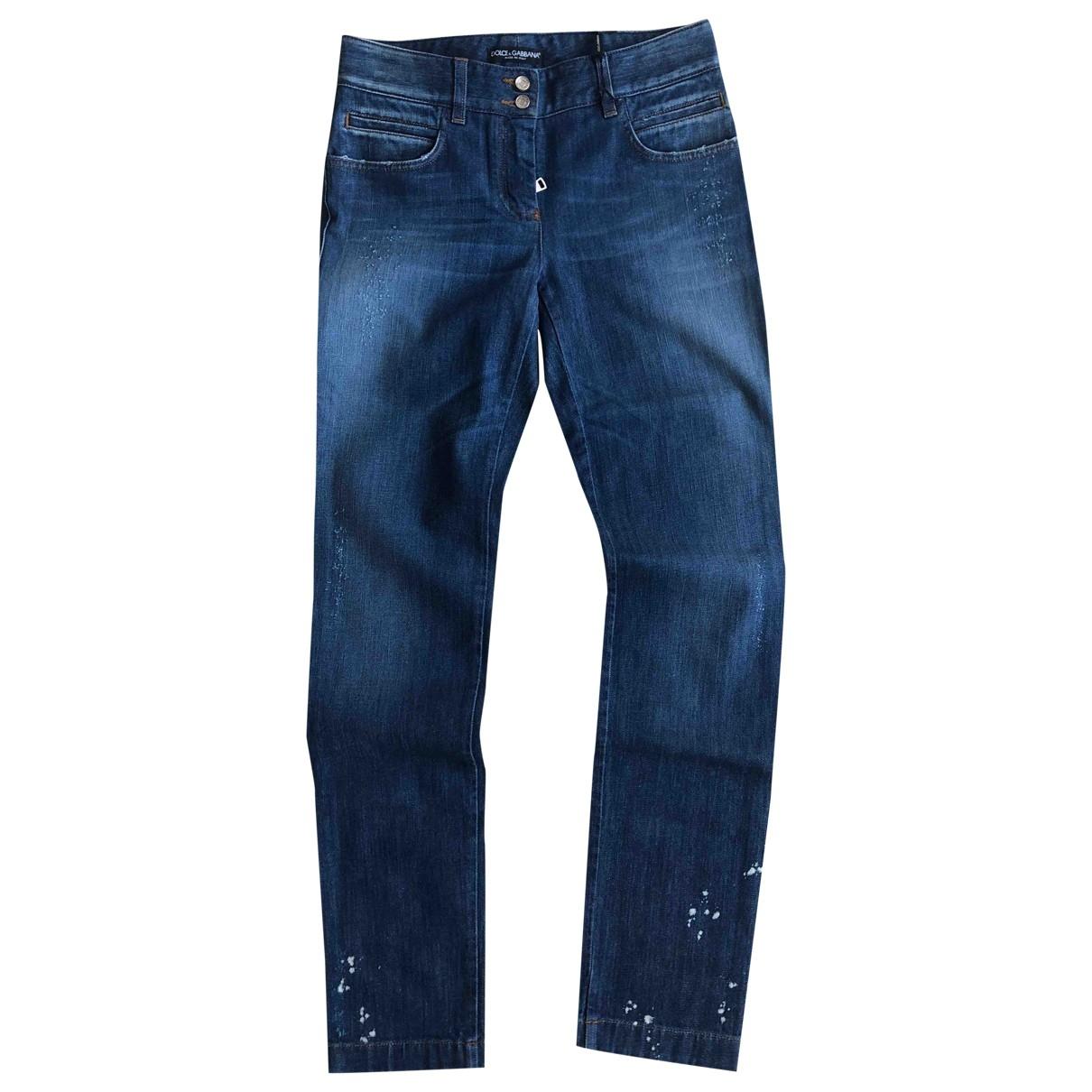 Dolce & Gabbana \N Blue Cotton - elasthane Jeans for Women 35 FR