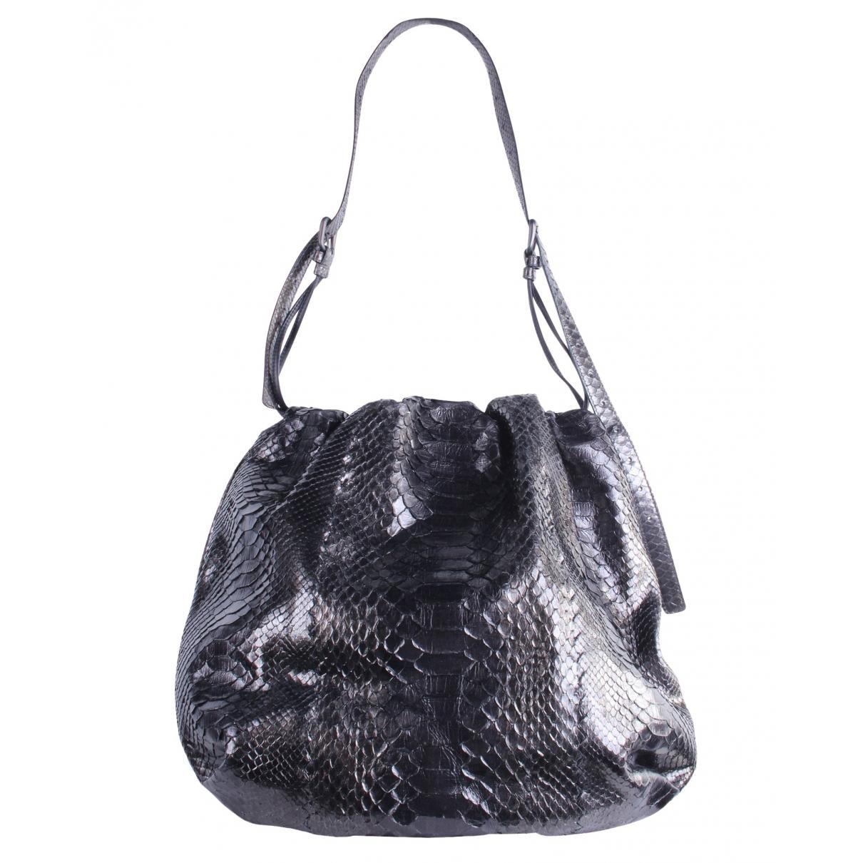 Bottega Veneta \N Black Exotic leathers handbag for Women \N