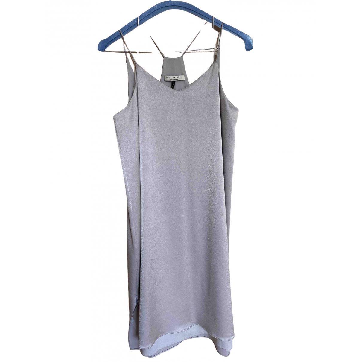 Halston Heritage \N Kleid in  Grau Polyester