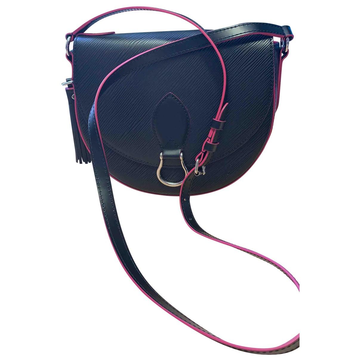 Louis Vuitton - Sac a main Saint Cloud pour femme en cuir - noir