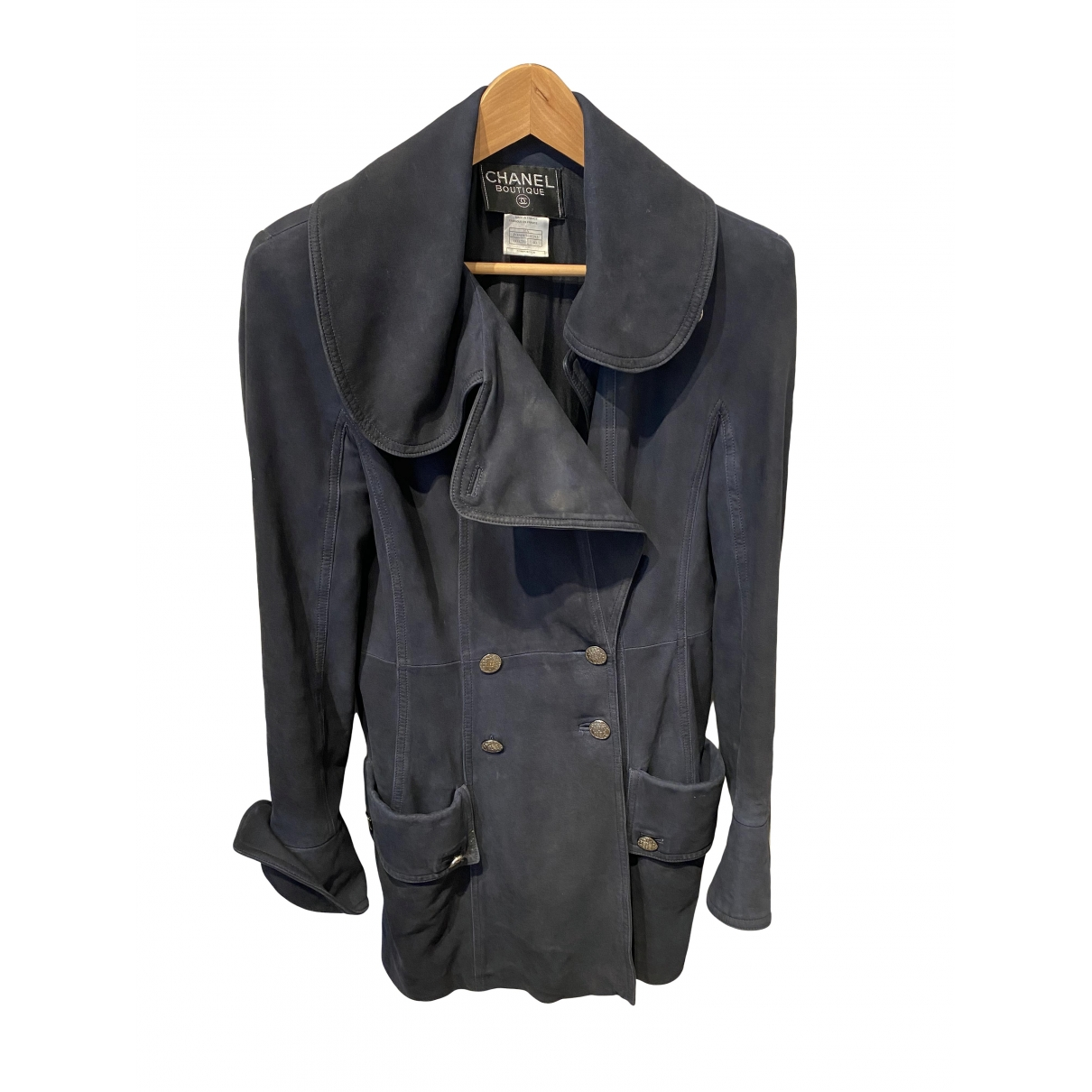 Chanel \N Navy Leather jacket for Women 40 FR
