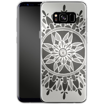 Samsung Galaxy S8 Silikon Handyhuelle - Mandala Black von Cat Coquillette