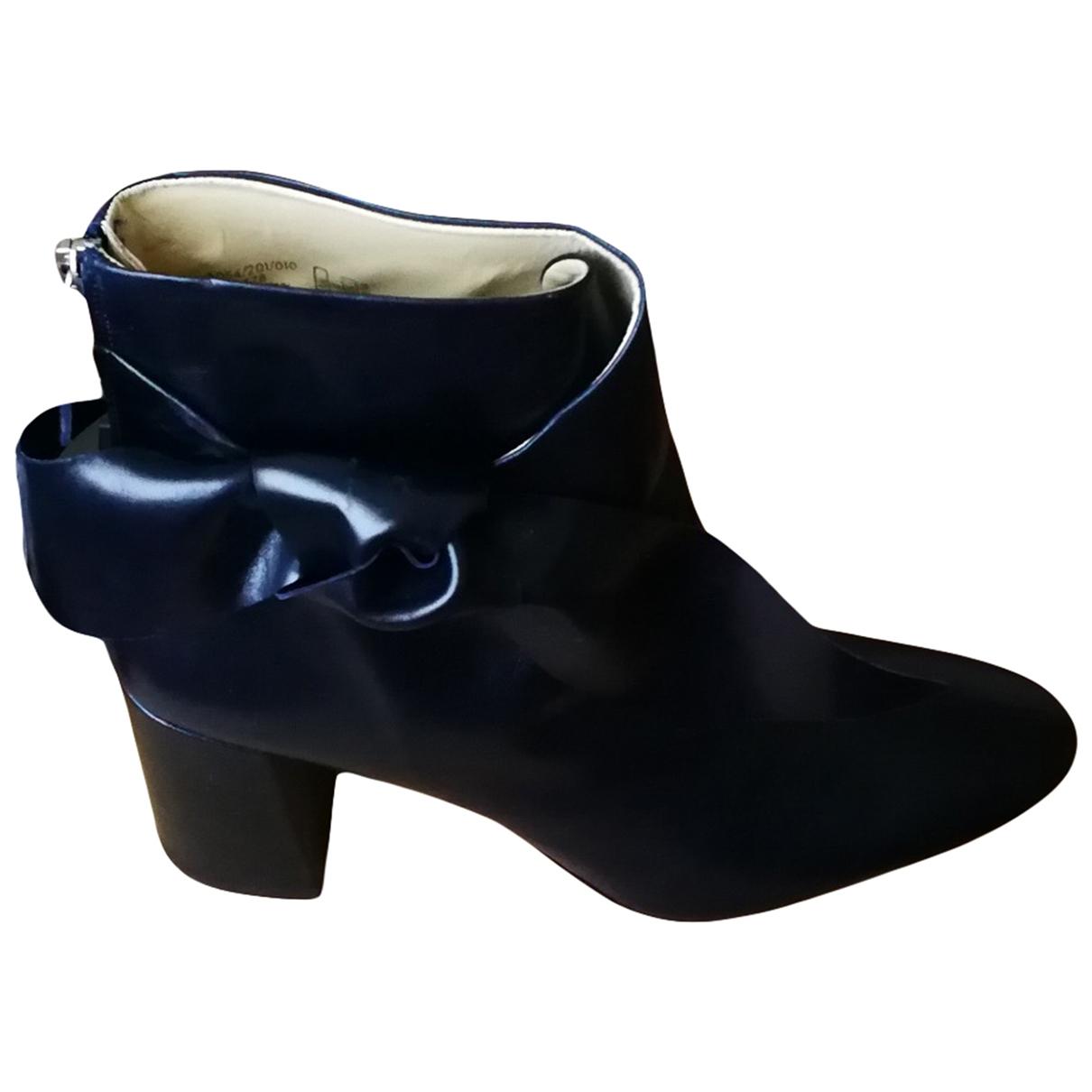 Zara \N Stiefeletten in  Blau Leder