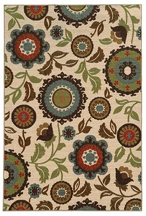 A41888240305ST 710 X 10 0 Rectangle Rug with Floral Pattern and NylonFiber