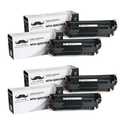 Compatible HP 12X Q2612XX Black Toner Cartridge from Moustache, 4 pack - Extra High Yield