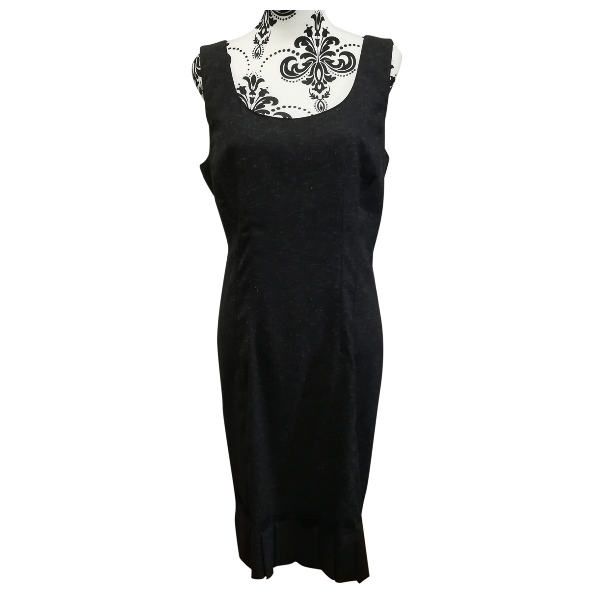 Non Signe / Unsigned \N Kleid in  Grau Synthetik
