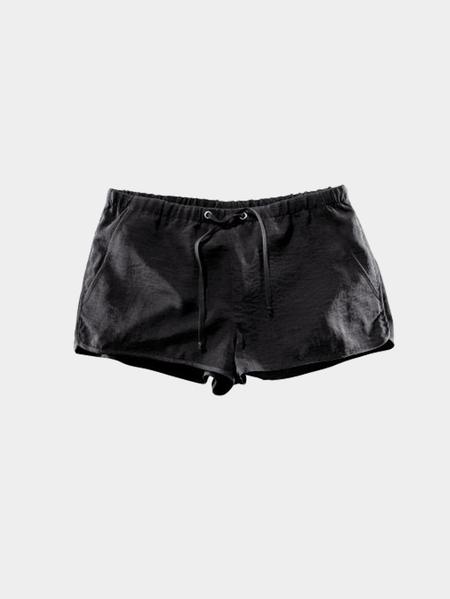 Yoins Black Drawstring Waist Casual Shorts with Side Pockets
