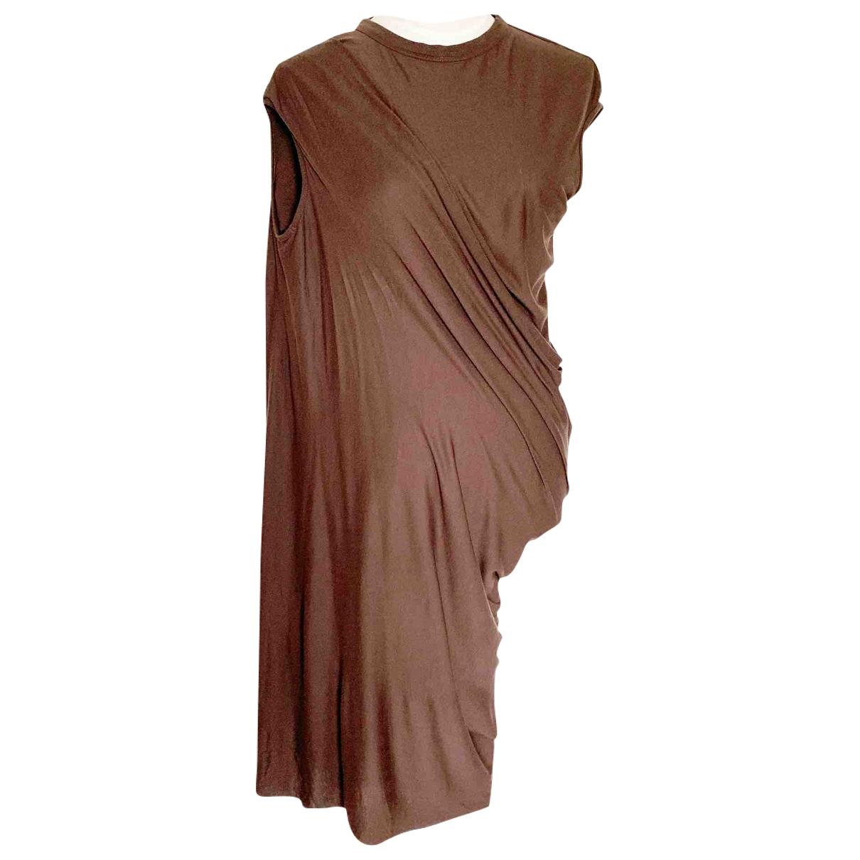 Rick Owens Lilies - Robe   pour femme en laine - marron