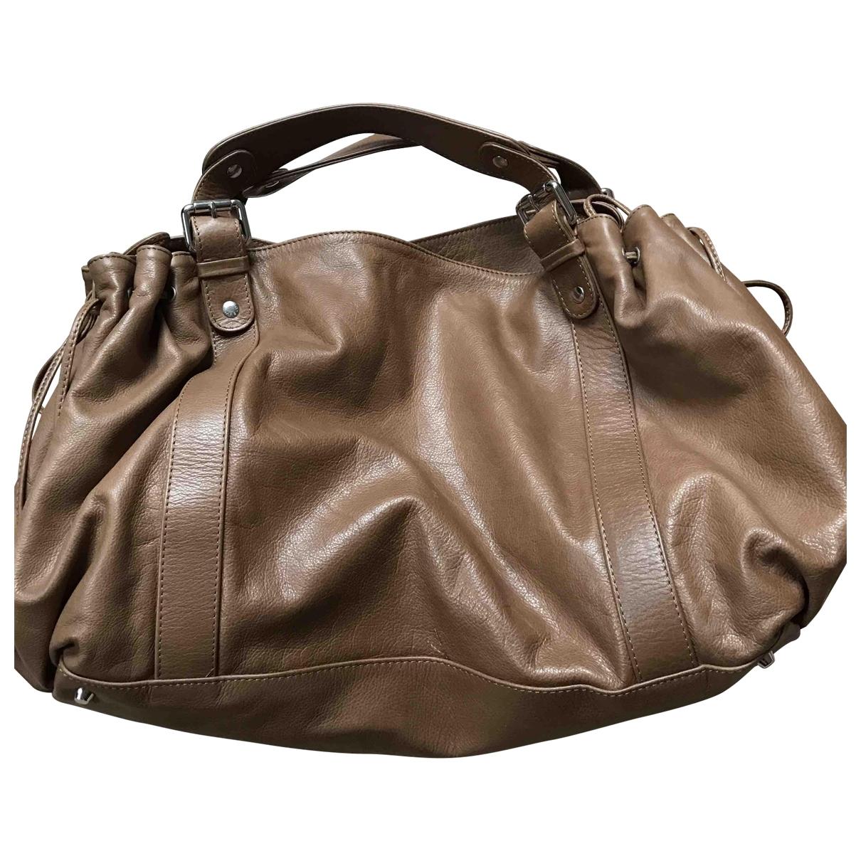Gerard Darel 36 H Beige Leather handbag for Women \N