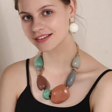 3pcs Stone Beaded Jewelry Set