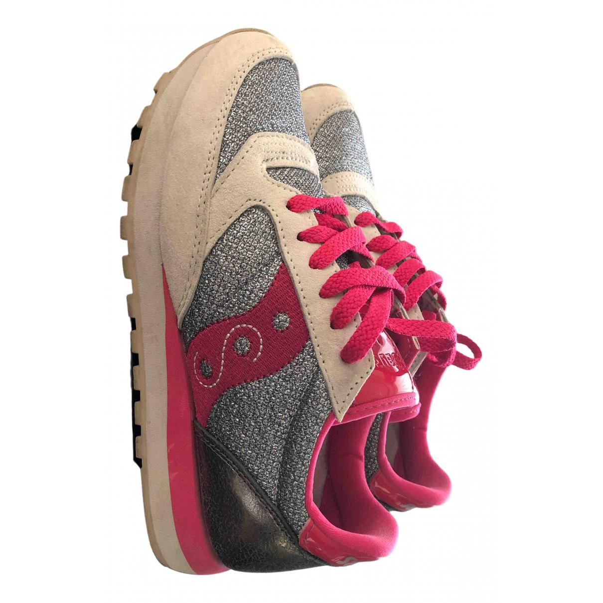 Saucony \N Sneakers in  Beige Mit Pailletten