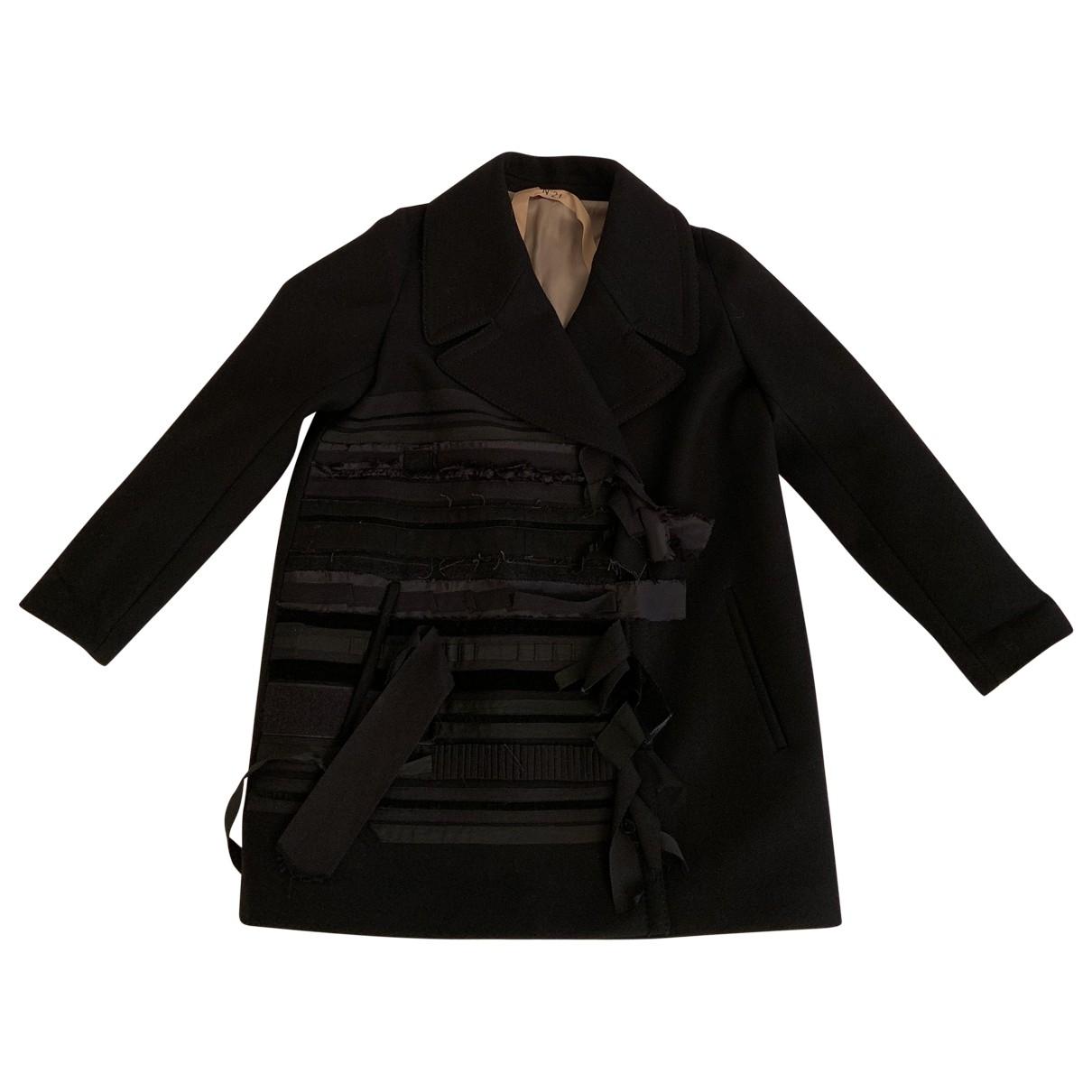 N°21 - Manteau   pour femme en laine - noir