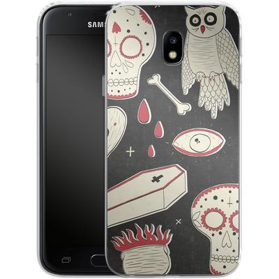 Samsung Galaxy J3 (2017) Silikon Handyhuelle - Halloween Essentials von caseable Designs