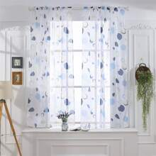 Transparenter Vorhang mit Kreis Muster