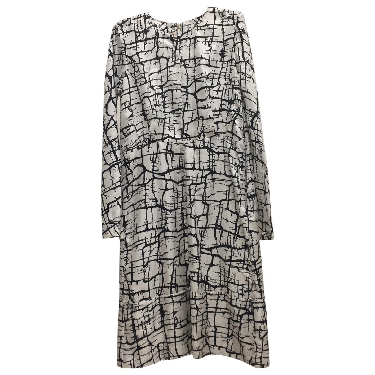 Marni \N White Silk dress for Women 42 IT