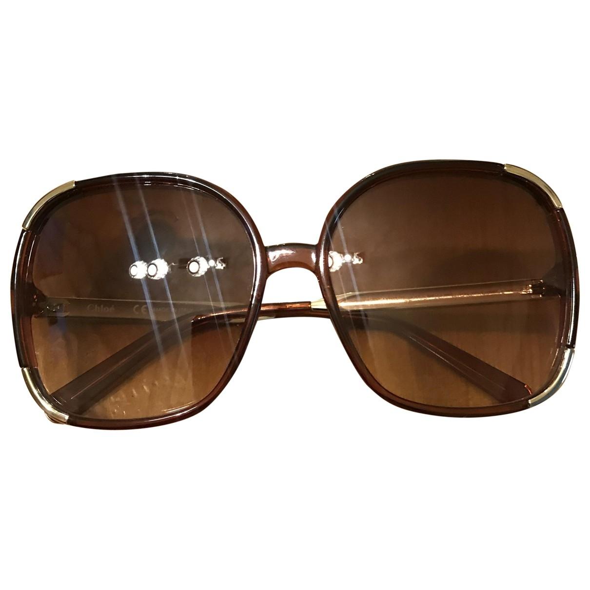 Chloe \N Sonnenbrillen in  Braun Kunststoff