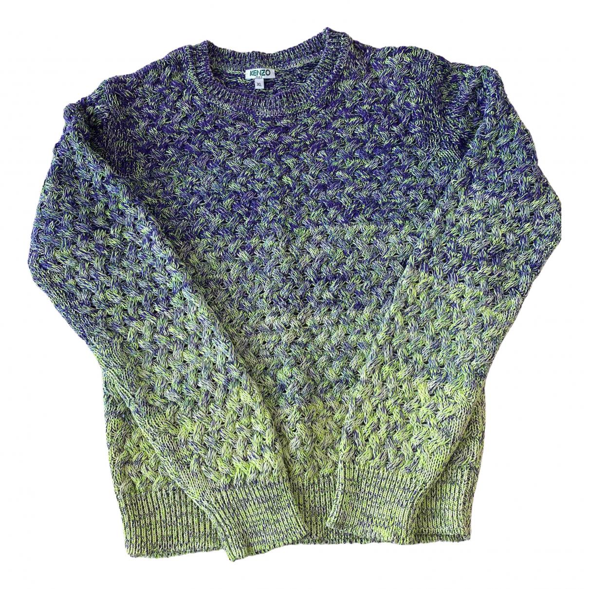 Kenzo - Pull   pour femme en coton - vert