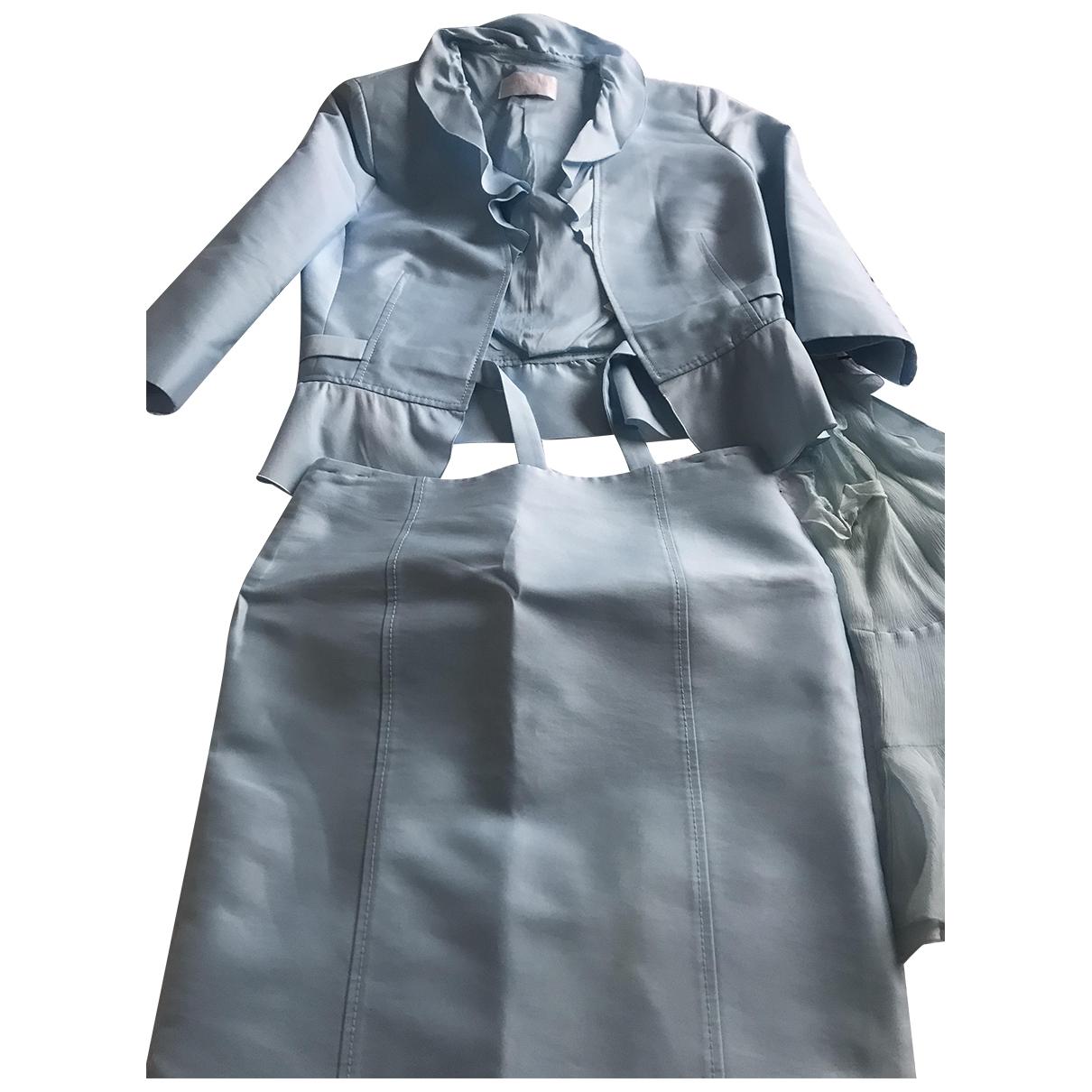 Valentino Garavani \N Kleid in  Blau Seide