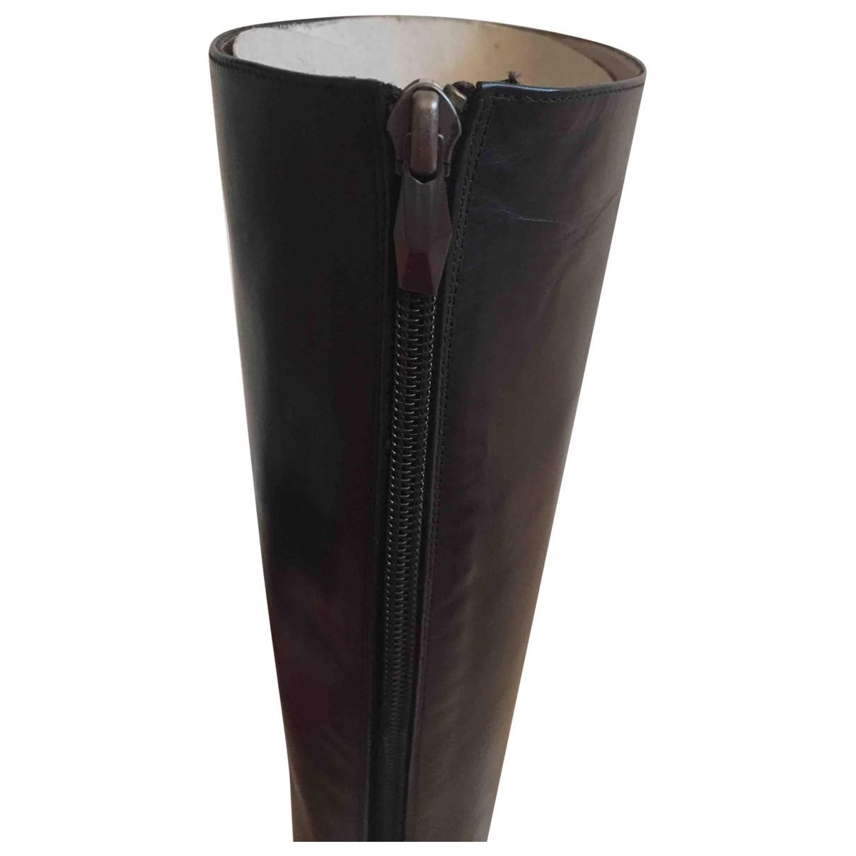 Diane Von Furstenberg - Bottes   pour femme en cuir - noir