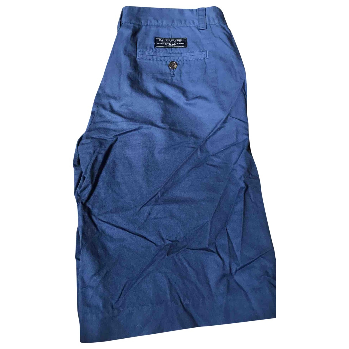 Polo Ralph Lauren \N Blue Cotton Shorts for Kids 14 years