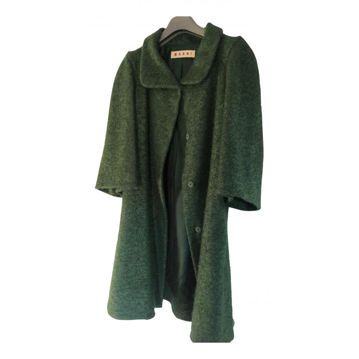 Marni - Manteau   pour femme en laine - vert