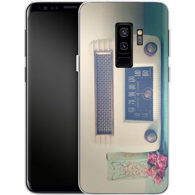 Samsung Galaxy S9 Plus Silikon Handyhuelle - Retro Radio von Joy StClaire