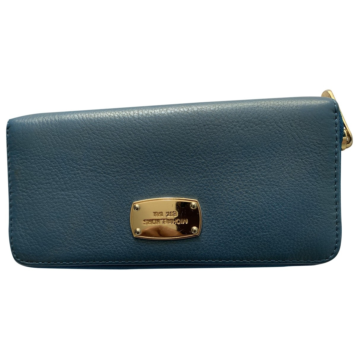Michael Kors \N Blue Leather Purses, wallet & cases for Women \N