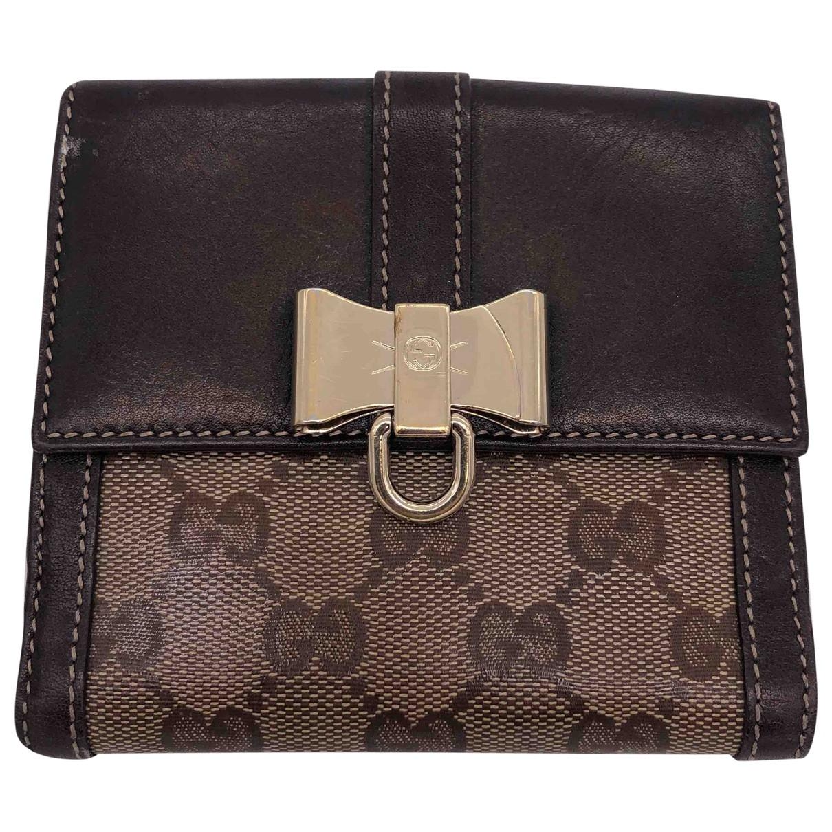 Gucci \N Brown Cloth wallet for Women \N