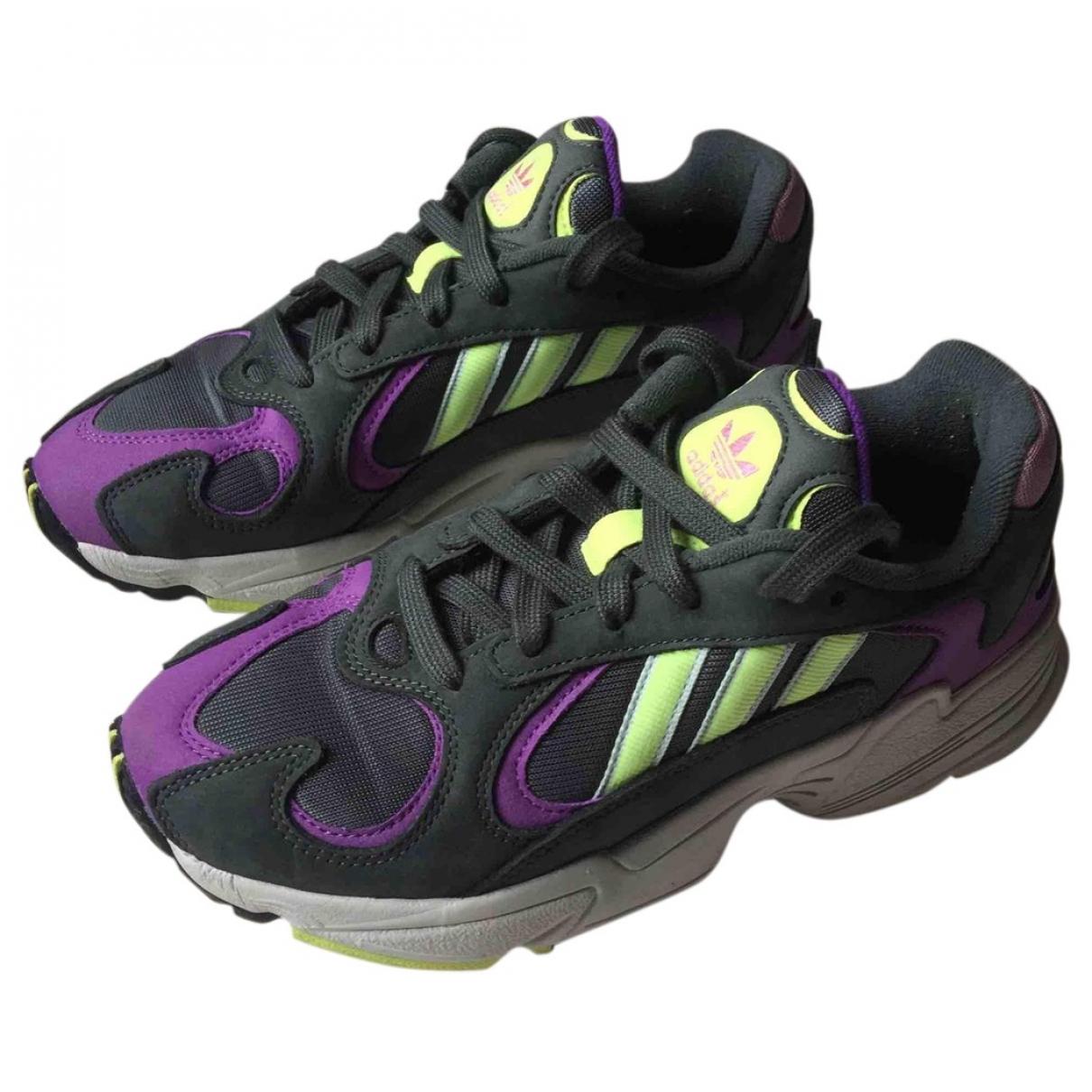 Adidas - Baskets Yung-1 pour femme en suede - multicolore
