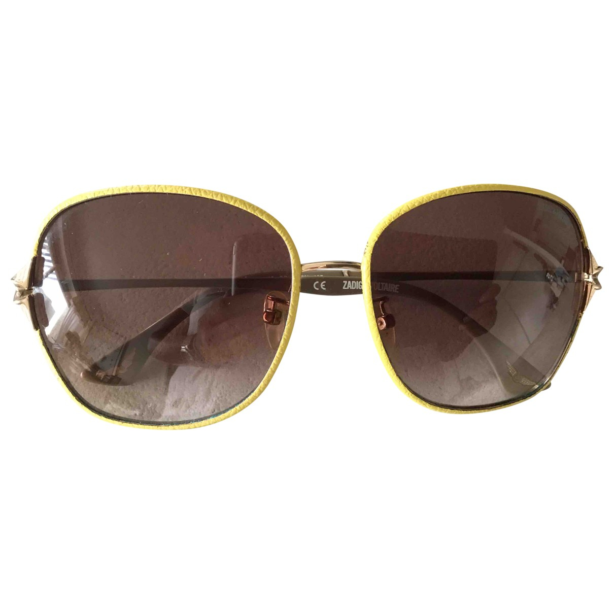 Zadig & Voltaire Spring Summer 2019 Yellow Metal Sunglasses for Women \N