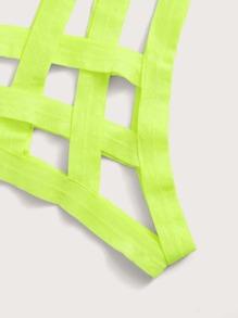 Plus Neon Green Underwire Lingerie Set