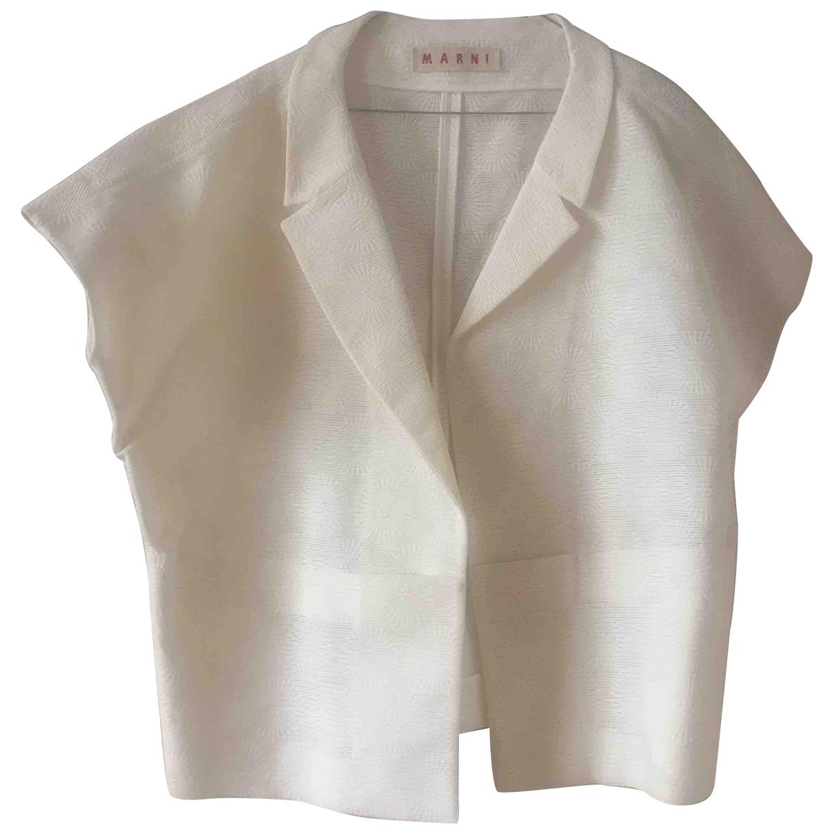 Marni \N Ecru Silk jacket for Women 42 IT