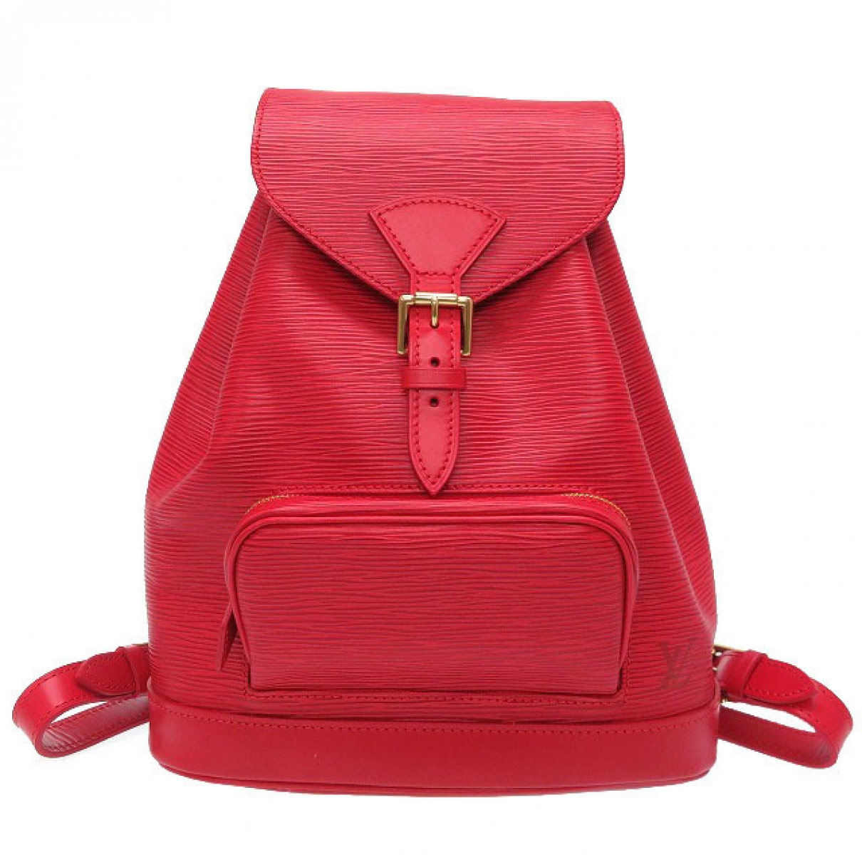 Louis Vuitton Montsouris Red Leather backpack for Women \N