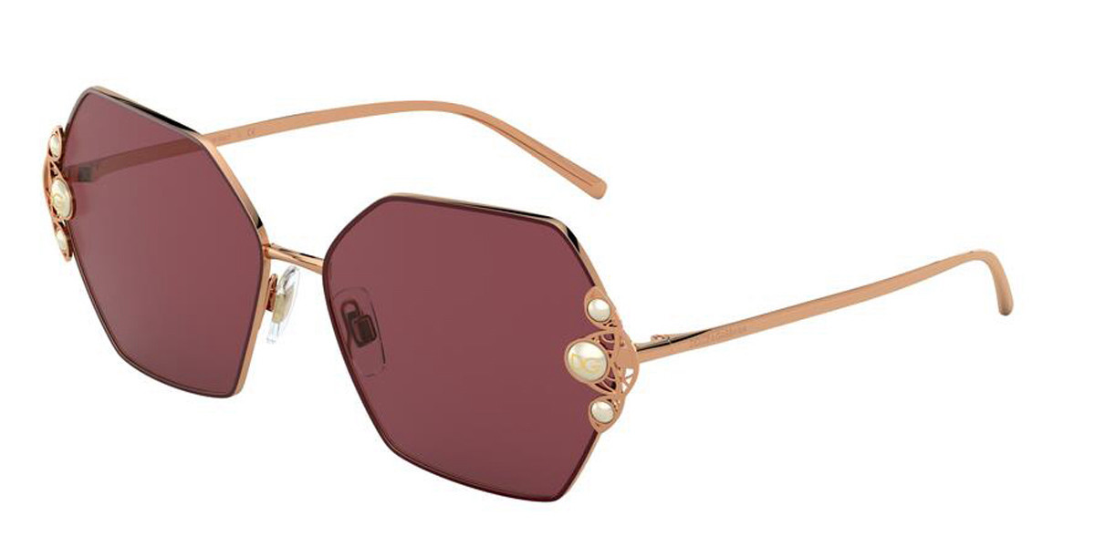 Dolce & Gabbana DG2253H 133369 Women's Sunglasses Gold Size 60