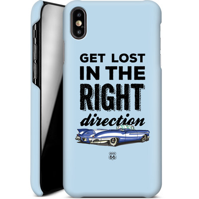 Apple iPhone XS Max Smartphone Huelle - ROUTE 66 Get Lost in the Right Direction von ROUTE 66