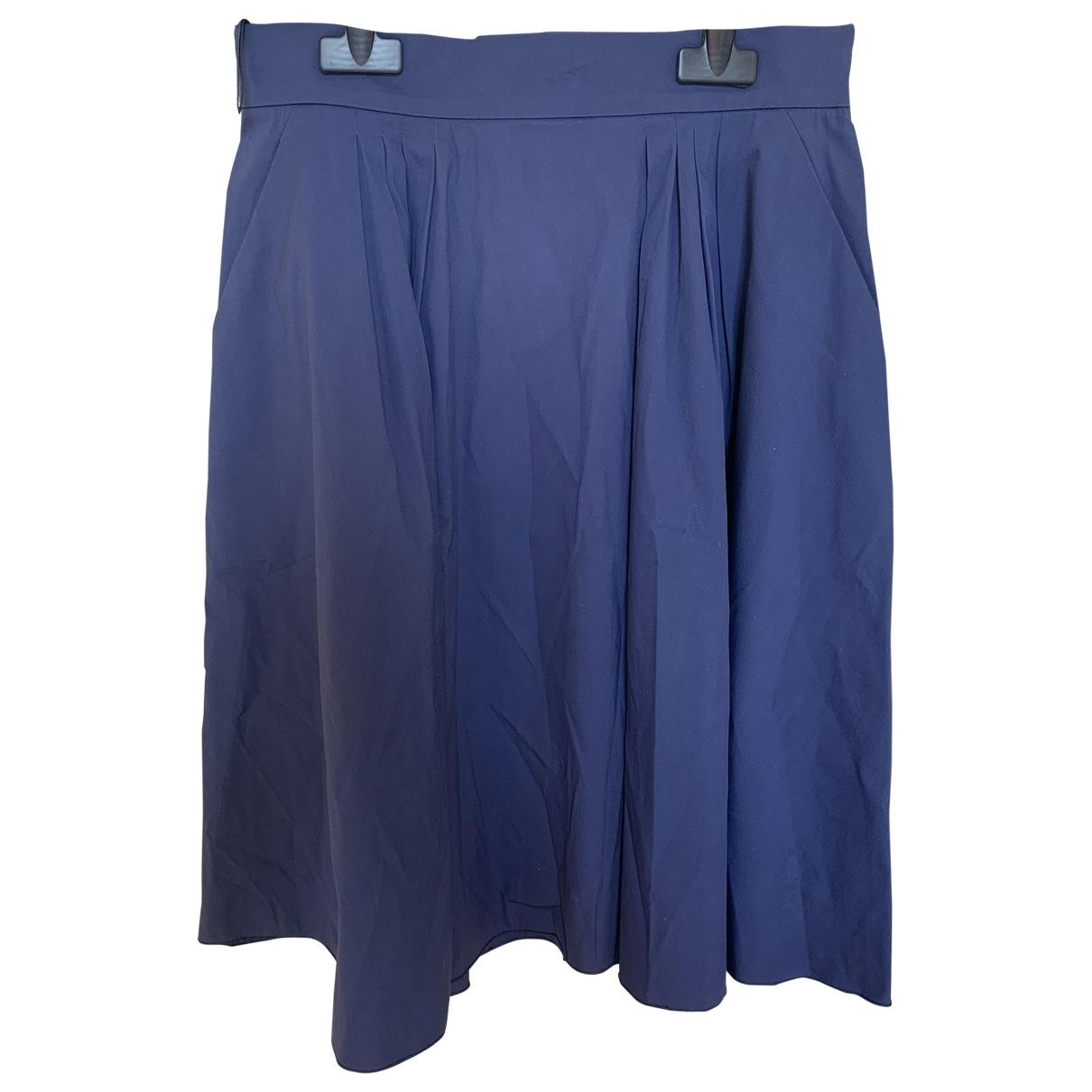 Prada - Jupe   pour femme en coton - bleu