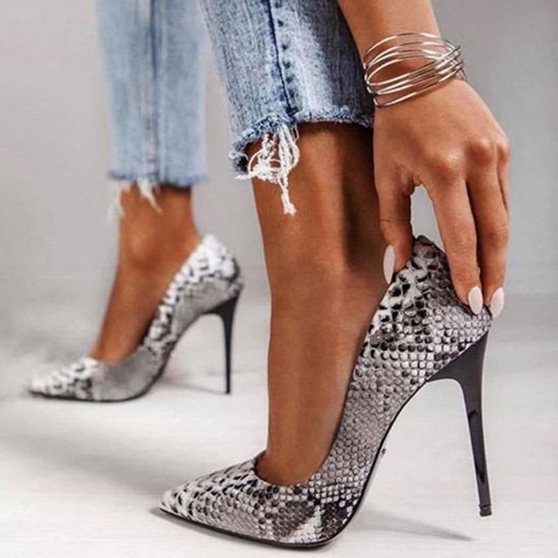 Ericdress Slip-On Pointed Toe Stiletto Heel Color Block Women's Pumps