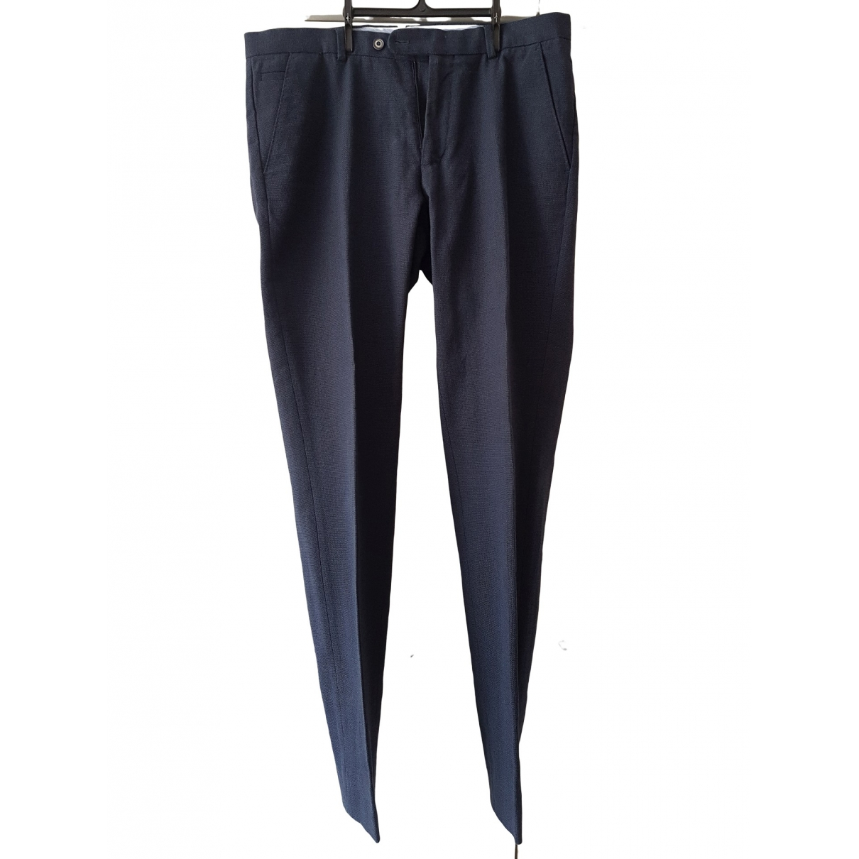 Massimo Dutti \N Navy Cotton Trousers for Men 32 UK - US