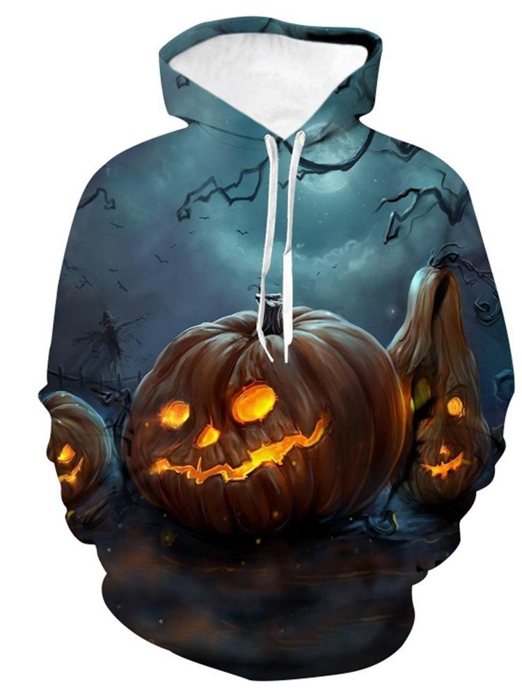 Ericdress Pullover 3D Color Block Men's Halloween Costume Hoodies