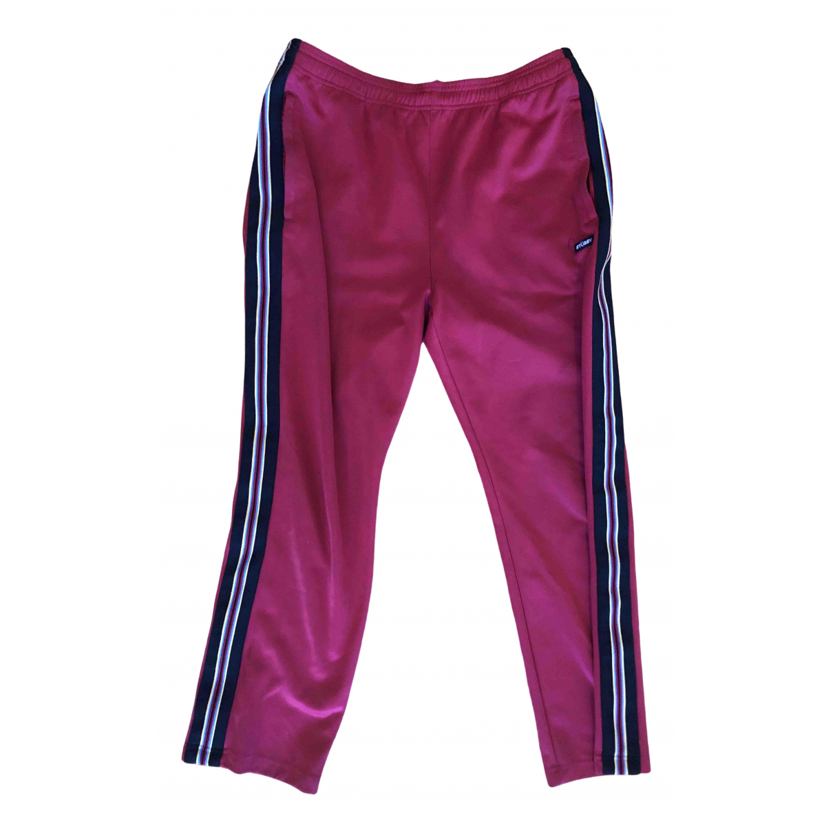 Stussy \N Red Cotton Trousers for Men L International