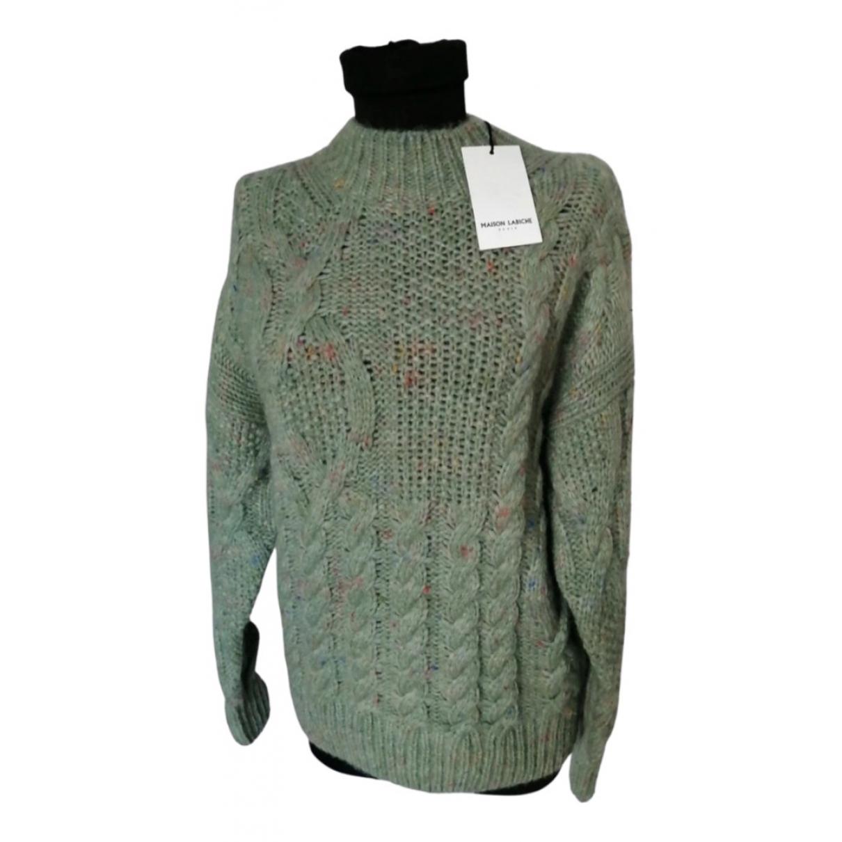 Maison Labiche - Pull   pour femme en laine - vert
